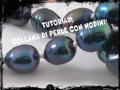 ▶ Tutorial - Collana di perle con nodini - YouTube
