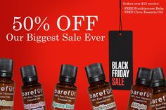 50% off, and spend $15 and get a FREE frankincense balm AND full size Clove oil!  https://barefut.com/?a=420