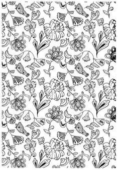 coloriage Des petites fleurs à colorier