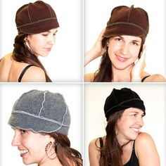Custom Made 100% Cashmere Upcycled Hat 7465cd053bf3