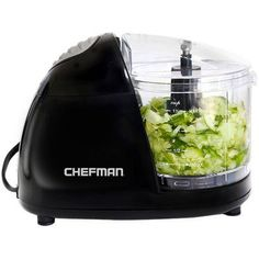 Chefman Electric Food Chopper in Black/Clear