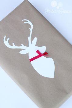 Fun Deer Silhouette Wrapping!