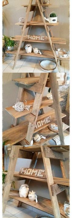 Interesting addition of the pallet ladder shelf option in your lounge will add up the whole house location with the superb appearances. You can add it with much more creativity if you will be showing out the taste of the shelves into it that will give out a flawless look.