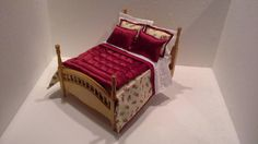 Miniature Dolls House 1/12th Scale Bed Set for by minibeddingshop