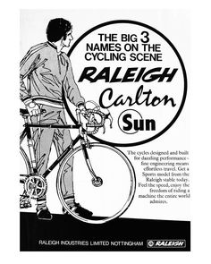 556 best cycling images in 2019 bicycles bicycle bicycle art Old Bicycle Advertisements raleigh advertisement for their own brand bicycles plus carlton and sun 1976
