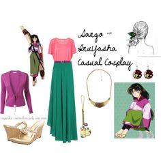 Sango - InuYasha Casual Cosplay by cupcake-curiosities, via Polyvore