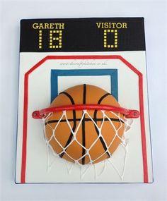 Basket Ball Cake www.thecraftykitchen.co.uk