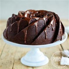 Decadent Devil's Food Pound Cake from Pillsbury® Baking is a chocolate lover's dream.