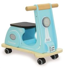 Welcome @indigojamm to #peachpearkids. Check out the new Scoot Aqua Racer. #woodentoys #kidsrideon #indigojamm #woodenscooter #scooter #kidswoodentoys #kidsplay #toddlers