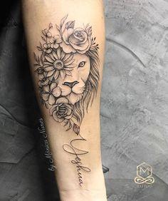 Lion tattoo Minhas Tatuagens The post Lion tattoo Minhas Tatuagens appeared first on Best Tattoos. Hand Tattoos, Leo Lion Tattoos, Mommy Tattoos, Forearm Tattoos, Flower Tattoos, Body Art Tattoos, Piercing Tattoo, Piercings, Trendy Tattoos