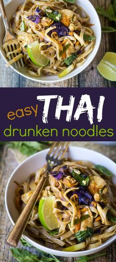 Simple ingredients make an extraordinary meal with this easy Thai Drunken Noodles recipe!