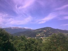 Aizkorri Mountain. Basque Country. Amazing sky in a summer day.