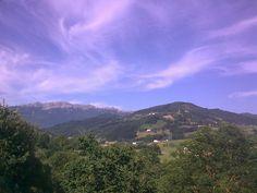 Aizkorri Mountain. Basque Country. Amazing sky in a summer day.