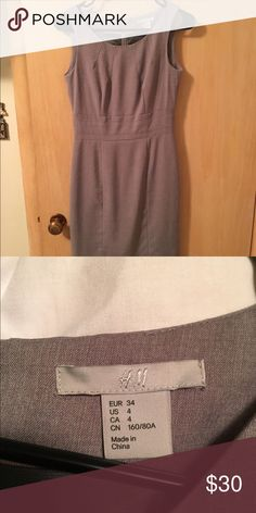 H&M size 4 gray pencil dress Hits just above knee. Fits more like a 2. Worn twice. H&M Dresses