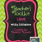 There are SO many ideas to make a super cute teacher's toolbox on pinterest! Here are my labels that I used for mine. To make sure that these will ...