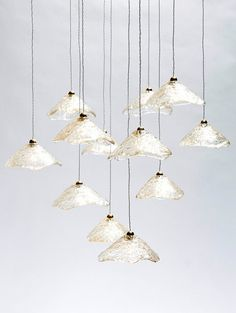 Funny work of light Epoxy Polyester Pendant Light Fixture / Hand Made / Translucent lampshades