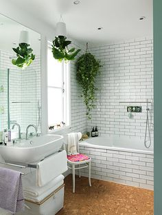 10 Resourceful ideas: Warm Minimalist Decor Home minimalist home design interior.Minimalist Kitchen Dining Cabinets minimalist home tips book. Spa Like Bathroom, Bathroom Plants, Bathroom Ideas, Jungle Bathroom, Bathroom Designs, Bathroom Green, Small Bathrooms, Bathroom Remodeling, White Bathrooms