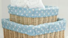 How to sew a basket lining