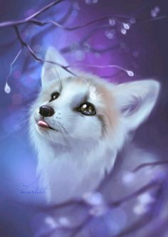 Fresh Candy - Foxtober 2018 by Martith - . - Fresh Candy – Foxtober 2018 by Martith – # … – This is A - Cute Animal Drawings, Kawaii Drawings, Cute Animal Pictures, Art Drawings, Baby Animals Super Cute, Cute Little Animals, Adorable Animals, Mythical Creatures Art, Fantasy Creatures