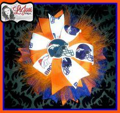 Denver Broncos Football Hair Bow on Etsy, $10.00