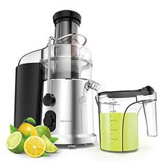 Wide Mouth Centrifugal Juicer - Elechomes High Speed for Fruit and Vegetables Juicer Machine with 2 speeds, Whole Fruit Big Mouth Juice Extractor with Premium Food Grade Titanium Coated Cutter Fruit And Vegetable Juicer, Citrus Juicer, Juice Diet, Fruit Juice, Jack Lalanne Power Juicer, Juicer Reviews, Centrifugal Juicer, Juicer Machine, Blenders
