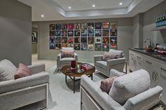 Tray Ceiling - PCM NOW - Princess Margaret 2016 Showhome basement Home Lottery, Princess Margaret, Home Builders, Corner Desk, Beautiful Homes, Basement, Cottage, Interior Design, House