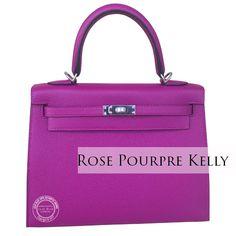 f4cd6ca3a9aa Hermes Kelly 25cm Rose Pourpre Epsom PHW