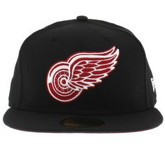 bd9c28956e1 Detroit Redwings Black And Red New Era Hats New Era Hats