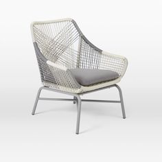Huron Small Lounge Chair + Cushion – Gray