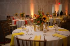 sunflowers! wedding centerpieces but could be used for all different types of events.