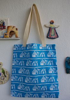 Cotton Tote Bag   Shopping bag   Cotton Bag i bought its fabric from south  africa front and back side is same design and made in BODRUM 59bc8355a72c8
