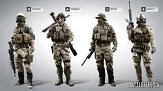 If your looking to start a paintball woodsball, what I would do is find 4 players to play 4 positions: an Assault man, a Recon, an Engineer, and a Support. ALSO: Credit to Battlefield 4 and check out ANSgear (link) for awesome paintball and airsoft gear! Battlefield 4, Special Ops, Special Forces, Rainbow Six Siege Art, Airsoft Gear, Tactical Gear, Future Soldier, Character Modeling, Paintball