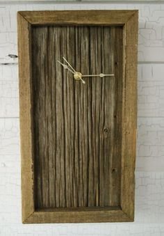 up cycled wood clock