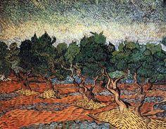 Vincent Van Gogh - Post Impressionism - Saint REMY - Champ d'oliviers