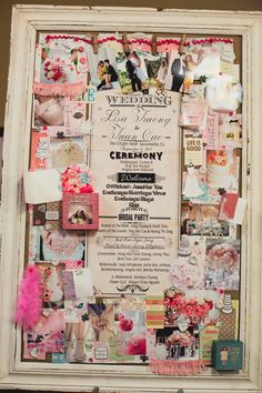 Create a collage board to welcome guests