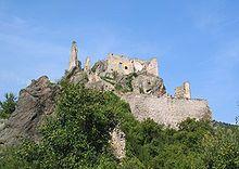 Richard I of England - Ruins of Dürnstein Castle, where Richard was kept captive