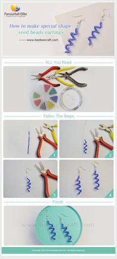 #Beebeecraft tutorials on how to make special shape #seedbeads #earrings