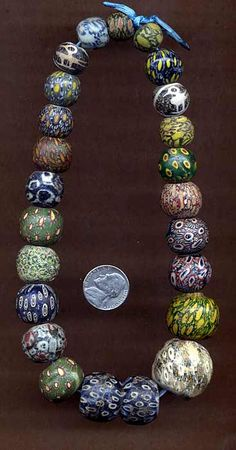 A collection of ancient Indonesian Pelangi / Jatim Beads | Price on Request ~ raoulcarr@yahoo.com