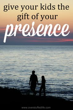 We get busy as parents, and sometimes we forget to show up. Give your child the gift of your presence and be there! #overstuffedlife