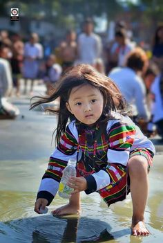 Cute Mizo kid in traditional dress. We Are The World, People Of The World, North East Indian, Beautiful Children, Beautiful Women, Western Outfits, Occasion Wear, Indian Ethnic, Simple Dresses