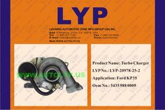 LYP-20978-25-2TURBO CHARGER/TURBOCOMPRESOR5435 988 0009REPLACEMENT FOR/REEMPLAZO PARAFORDKP35