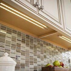 Plug-in Under Cabinet LED Tape Light 18 by HomeImprovementShop Under Cabinet Storage, Kitchen Under Cabinet Lighting, Under Counter Lighting, Light Kitchen Cabinets, Kitchen Pendants, Kitchen Lighting, White Cabinets, Led Rope Lights, Rope Lighting