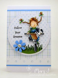 Follow your dreams on a bike!  Using Lili of the Valley Annabel