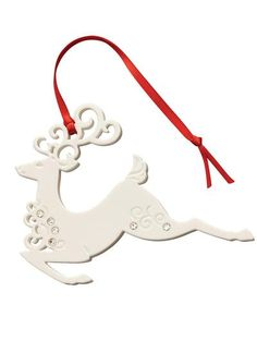 Belleek Reindeer Ornament