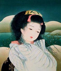 歌舞伎連作 鷺娘 by Kisho Tsukuda