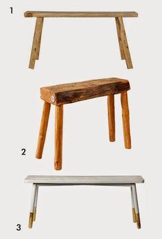 fotobloo(g): Drewniany stołek i ławka. Nieodzowne elementy stylu skandynawskiego.