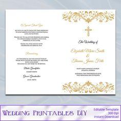 catholic wedding ceremony program