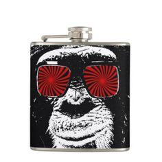 Funny monkey  flask