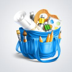 Artist Bag Icon by Ramotion