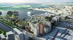 Bjørvika. Oslo, Marina Bay Sands, Arch, Building, Green Roofs, Travel, Image, Walls, Construction